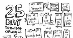 25 days of drawing.pdf Most of these ideas apply to a journal about yourself, just use photos and journaling