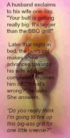 This is what not to say to your wife when she's gained some weight!