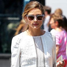 17 Street Style Stars in Little White Dresses (LWDs) - Olivia Palermo