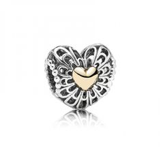 Vintage Heart Charm - Mother's Day Limited Edition