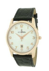 Le Chateau Men's 7076mrse_wht Classica Watch Le Chateau. $43.05. Water-resistant to 99 feet (30 M). Date. Second-hand. Genuine leather band. 3 year warranty. Save 75%!