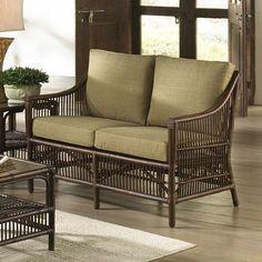 Panama Jack Bora Bora Loveseat with Cushion Upholstery: Gavin Mist