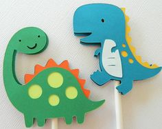 12 dinosaurios Cupcake Toppers Cupcake Toppers por 2muchpaper