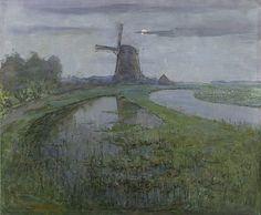 Piet Mondrian (1872-1944) Mill along the River Gein by moonlight, 1903