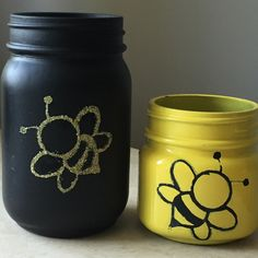This Bumble Bee mason jar is perfect for that bumblebee lover friend, gardener, or bee keeper. Colors are customizable and names can be added! 40% off through Monday with code BLACKFRIDAY2015