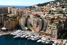 Small yachts harbour in Monaco area