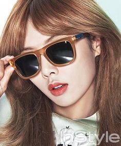 HyunA Korean Magazine, Heo Ga Yoon, Hyuna Kim, Gangnam Style, Instyle Magazine, Glamour Shots, Female Stars, Celebs, Celebrities