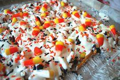 Candy Corn Bark by yourhomebasedmom