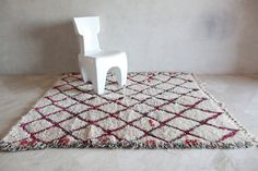 BEACH PICNIC KISSES 7'x5' Beni Ourain. Tapis by pinkrugco on Etsy, $1498.00