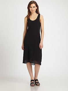 Vince Double Layer Silk Dress