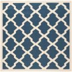 Safavieh Courtyard Navy/Beige 6.6 ft. x 6.6 ft. Square Area Rug - CY6243-268-7SQ at The Home Depot