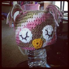 Camo Girl Owly  Ready to Ship  Toddler by KariBelle on Etsy, $10.00    #crochet #hat #owl #sleepy #owly #karibelle #houseofdongo #etsy