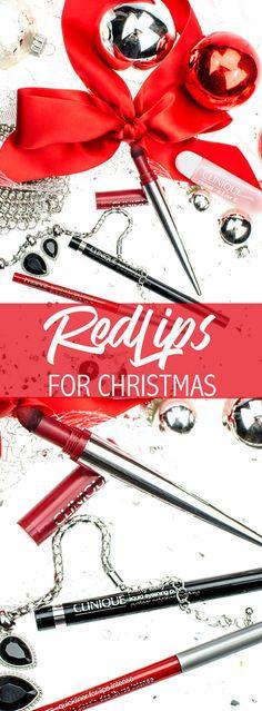 RED LIPS FOR CHRISTMAS ! Weihnachten gibt's bei mir rote Lippen! [pr sample | daher werbung] In diesem als sattes CRIMSON RED dem Clinique Pop Lip Shadow Cushion Matte Lip Powder  - Review auf dem Blog !