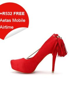 Tasseled Suede High Heels (Red) Christian Louboutin, High Heels, Pumps, Beige, Stuff To Buy, Shoes, Red, Women, Fashion