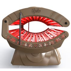 Minimize Fine Lines & Wrinkles with This Red-Light Therapy Collagen Bed.  Radiance 20 Red Visible Light Collagen Bed by ESB Enterprises.  #redlight  #tanning