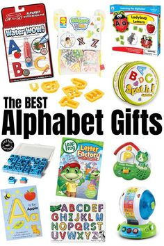The best Christmas and birthday gifts for toddlers and preschoolers who are learning the alphabet! How to teach your kids their ABCs through play and interaction with these top gift ideas. A great resource for parents looking for gift ideas that are educational for their children.