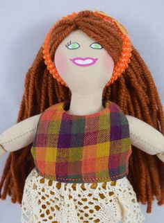 Redhead Dress Up Doll  Kids Toy by JoellesDolls on Etsy