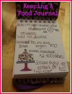 Easy ways to keep a food journal. #Health #diet #fitness