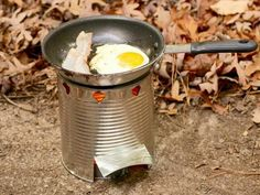 DIY Network has instructions on how to make a camp stove for camping, backpacking or surviving the zombie apocalypse.