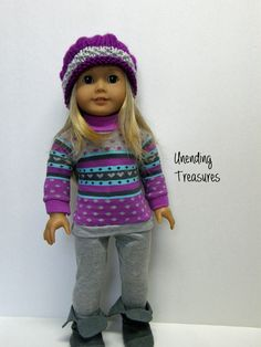 American Girl doll clothes 18 inch doll by Unendingtreasures. Patterns found at pixiefaire.com.