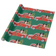 Christmas Bernese Mountain Dogs Red Truck Wrapping Paper - wrapping paper custom diy cyo personalize unique present gift idea Bernese Mountain Dogs, Wrapping Paper Crafts, Custom Wrapping Paper, Gift Wrapping, Watercolor Red, Paper Craft Supplies, Personalized Note Cards, Unique Presents, Ideas