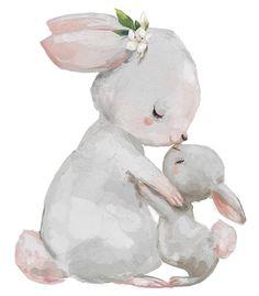 Cute Mum & Baby Bunny