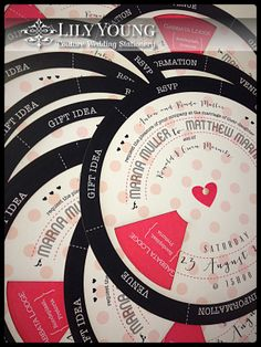 Interactive wheel wedding invitation by Lily Young Designs www.lilyyoung.co.za
