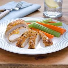 BBQ-cheddar-crusted Chicken.  1/2 cup Hellman, 1/4 c shred cheddar cheese, 2 T BB sauce,  4 T seasoned bread crumbs  425 20 min