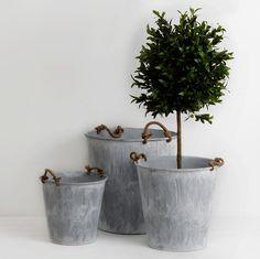 galvanized  buckets.