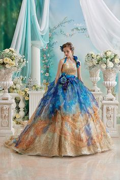 Princess Wedding Ball Gowns by Stella de Libero Green Wedding Dresses, Bridal Dresses, Bridal Gown, Ball Dresses, Ball Gowns, Robes Quinceanera, Fantasy Gowns, Fairytale Dress, Beautiful Gowns