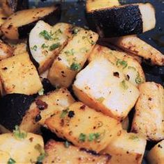 Roasted Radishes - tossed with olive oil, thyme, and salt. Roast @ 450. Drizzle with lemon.