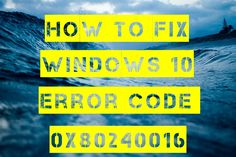 Error Code 0x80240016 is an error that appears when the Windows Update tool is unable to complete its operation.