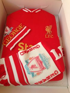 Liverpool FC football shirt cake