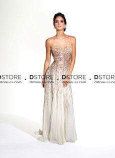 Vestido de Festa Longo em Chifon com Paetês Minerva 95007P : Dstore Miami, Vestidos de Festa Importados