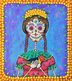 DIA DE LOS MUERTOS/DAY OF THE DEAD~SUGAR SKULL ART