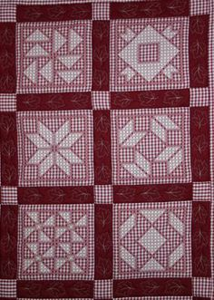Red Work Chicken Scratch Have I said I must do a red-work quilt?!?!?!?!!?!?!?
