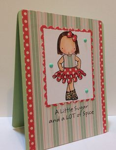Sweet and Sassy birthday card.  Card is 4.25 x 5.50 and comes with a white envelope. on Etsy, $6.50