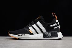 115877250ebf4 Off-White X Adidas NMD R1 NMD Black White Orange BA8860