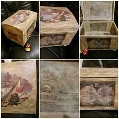 #anniesloanmadness #chalkpaint #versailles #duckeggblue #drybrush #distressed #pirate_chest #worldmap #darkwax #red_spintop_athens #the_toymaker_athens