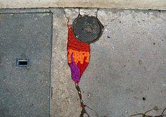 Juliana Santacruz Herrera, street art installation, Paris