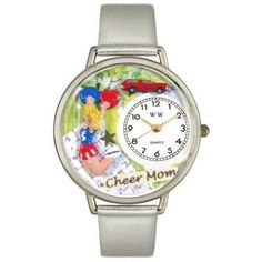 Whimsical Unisex Cheer Mom gold Leather Watch