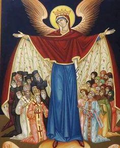 Byzantine Icons, Byzantine Art, Religious Icons, Religious Art, Madonna, Mary Magdalene And Jesus, Hail Holy Queen, Orthodox Catholic, Roman Church