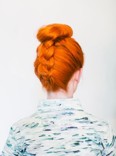 Love this #Braided #topknot , get the #tutorial from @abeautifulmess