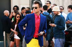 brad goreski.  we will be bffs.  check out the color blocking