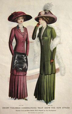 womens suits 1910's - Google Search