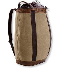LL Bean Waxed Canvas Pack Basket.