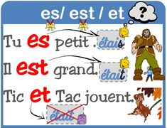 Aff est/es/et et ont /on French Expressions, French Teacher, Teaching French, French Worksheets, French Grammar, French Language Learning, French Words, Learn French, Literacy