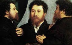 Ritratto di orefice in tre posizioni, c. 1530 Lotto Lorenzo