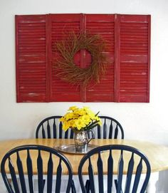 old shutters into art