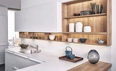 """11 Me gusta, 2 comentarios - Meine Küchen (@meine_kuchen) en Instagram: """"White & wood. . . . . . . . #kitchendesign #meineküchen"""""""
